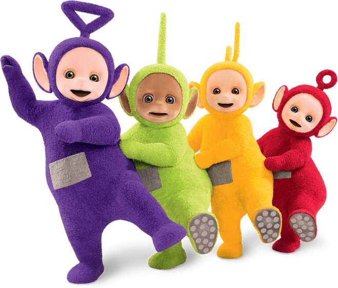 Teletubbies in festa