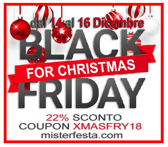 Black Friday for Christmas Mister Festa