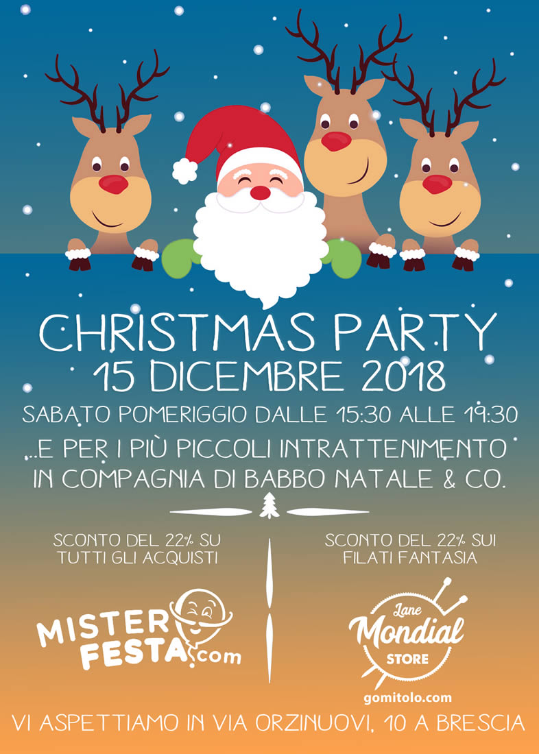 Locandina Christmas Party | Mister Festa