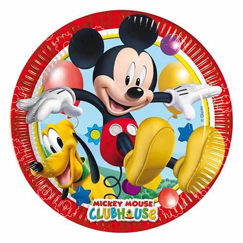 Piatti grandi Topolino Clubhouse Disney 8 pezzi