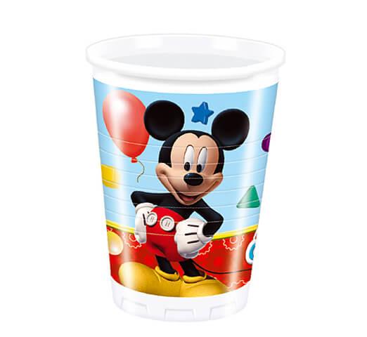 Bicchieri Topolino Clubhouse Disney 8 pezzi
