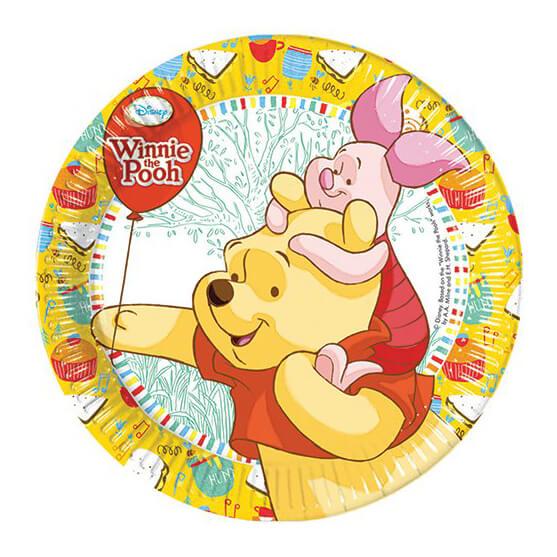 Piatti Winnie the Pooh grandi 8 pezzi