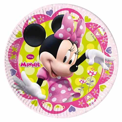Piatti Minnie Disney grandi 8 pezzi