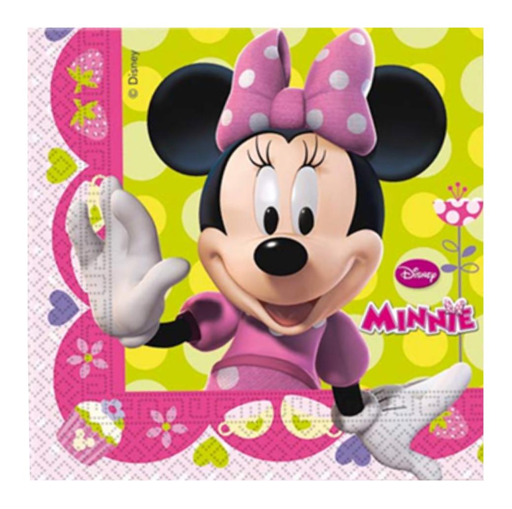 Tovaglioli Minnie Disney 20 pezzi