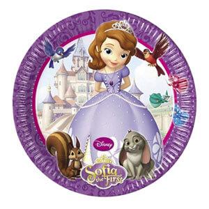 Piatti Sofia la principessa Disney Foresta incantata grandi 8 pezzi