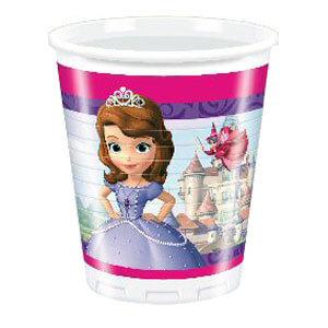 Bicchieri Sofia la principessa Disney Foresta incantata 8 pezzi