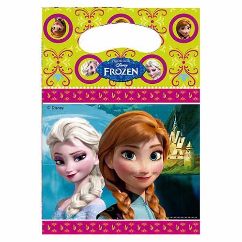 Bustine Frozen per regali fine festa 6 pezzi