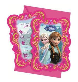 Inviti festa Frozen con buste 6 pezzi