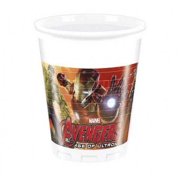 Bicchieri Avengers 8 pezzi