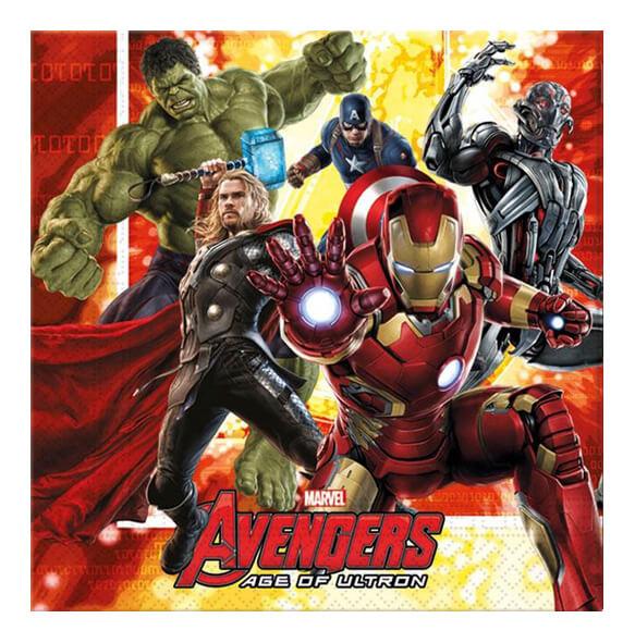 Tovaglioli Avengers 20 pezzi
