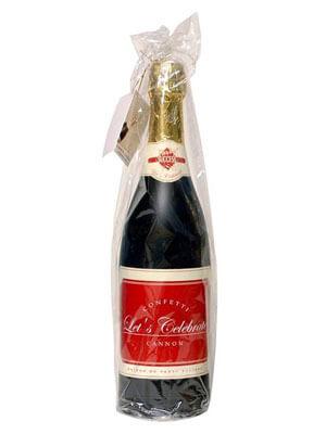 Bottiglia champagne spara coriandoli 1 pezzo
