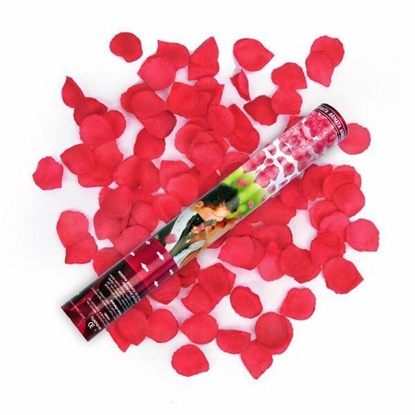 Cannone petali di rosa rosso 1 pezzo