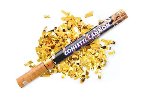 Cannone coriandoli oro 1 pezzo