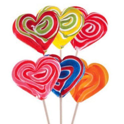 Lollipop cuore medio mix 1 pezzo