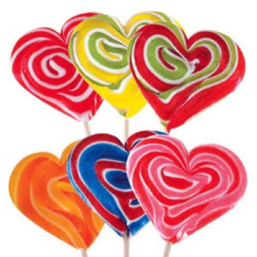 Lollipop cuore grande mix 1 pezzo