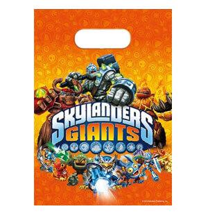Bustine Skylanders Giants per regali fine festa 6 pezzi