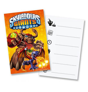 Inviti festa Skylanders Giants con buste 6 pezzi