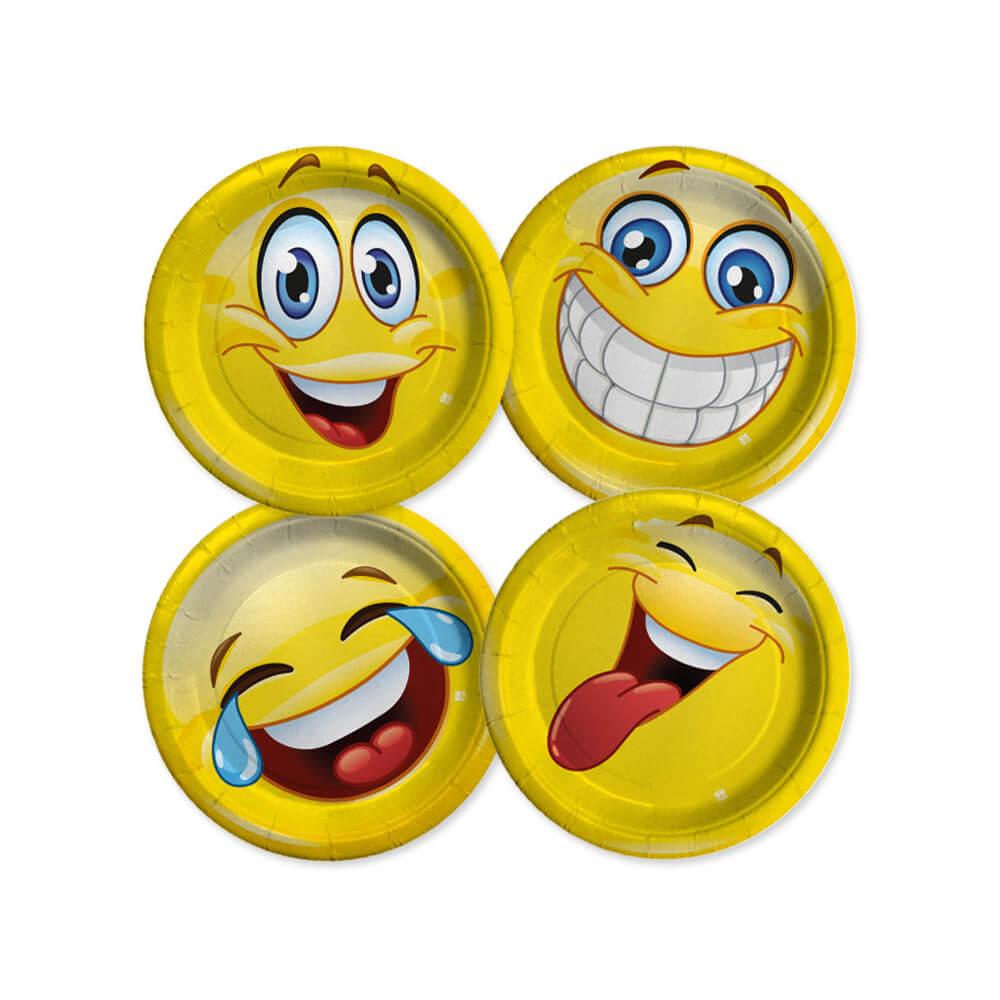 Piatti Emoji piccoli 8 pezzi