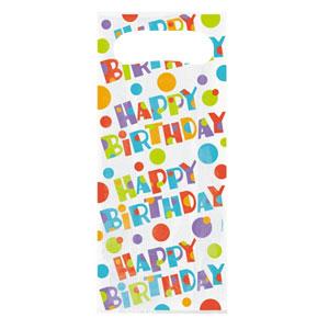 Bustine brillante happy birthday per regali festa compleanno 20 pezzi