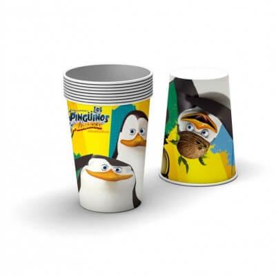 Bicchieri I Pinguini di Madagascar 8 pezzi