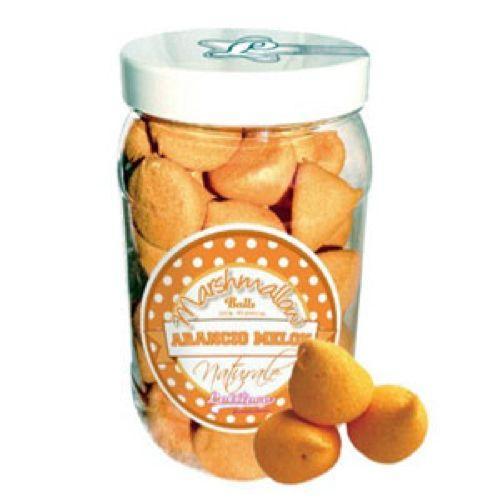 Marshmallow balls arancio e melone in barattolo