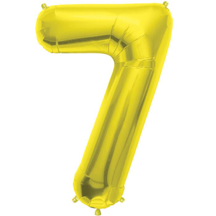 Palloncino numero 7 oro NumberShape 1 pezzo