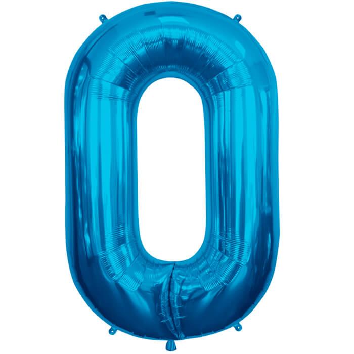 Palloncino numero 0 blu NumberShape 1 pezzo