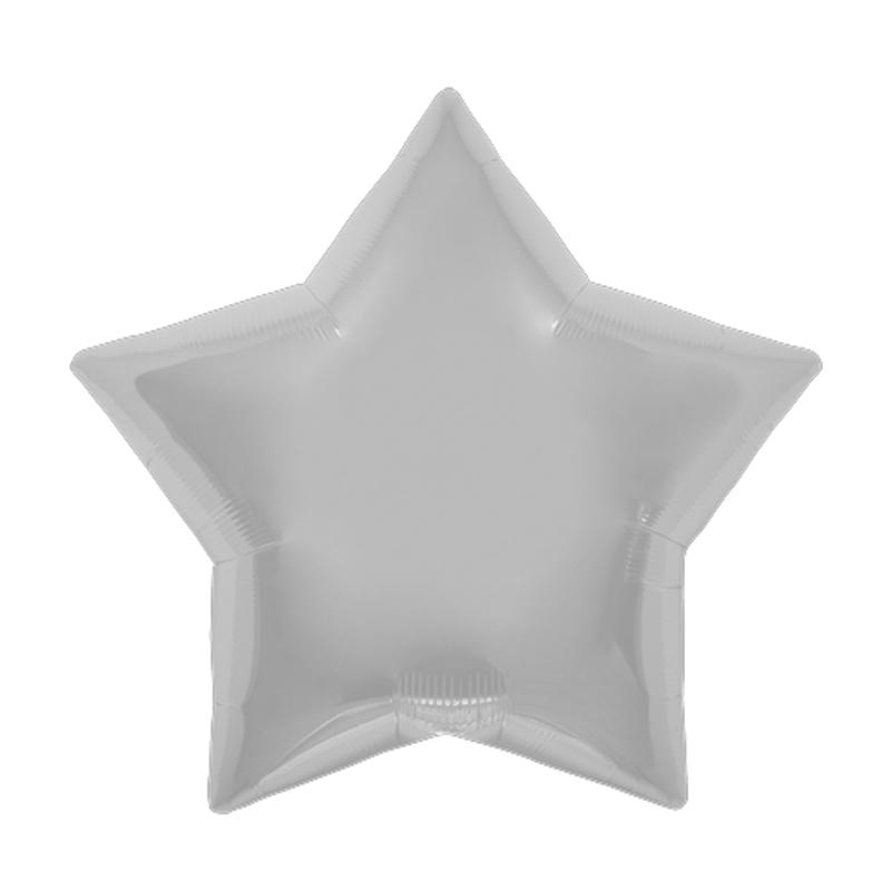 Palloncino stella argento 56 cm 1 pezzo