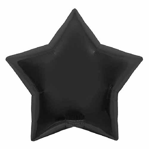 Palloncino stella nero 56 cm 1 pezzo