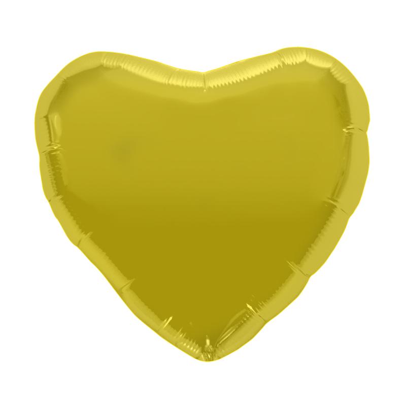 Palloncino cuore oro L 46 cm  1 pezzo