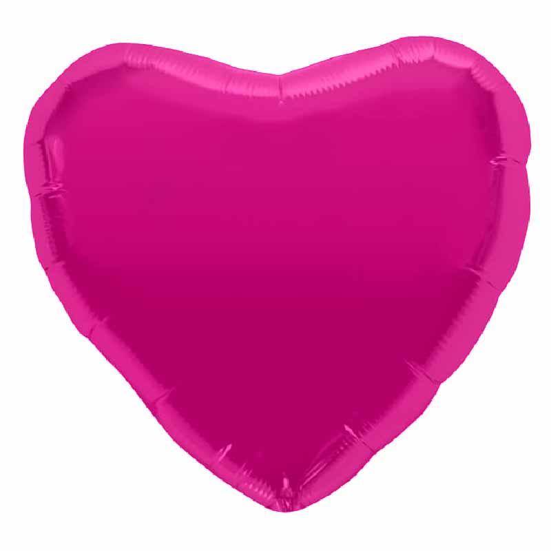 Palloncino cuore magenta 46 cm 1 pezzo