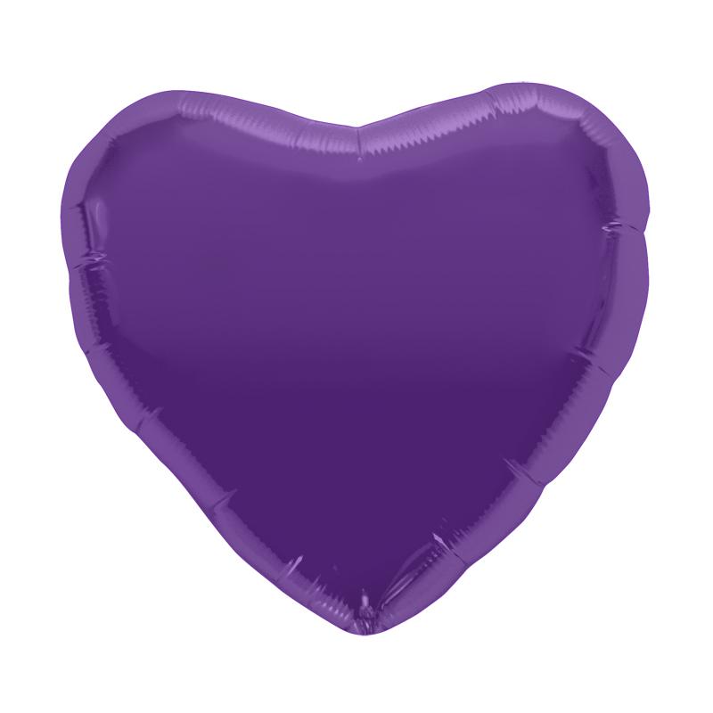 Palloncino cuore viola L 46 cm  1 pezzo