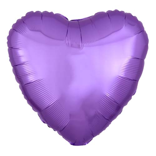 Palloncino cuore viola 46 cm 1 pezzo