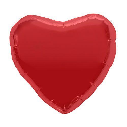 Palloncino cuore rosso L 46 cm 1 pezzo