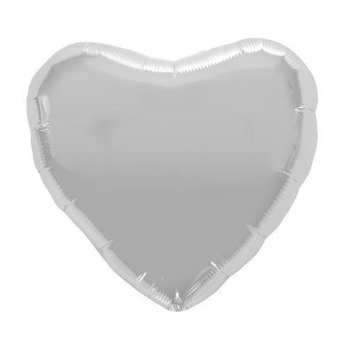 Palloncino cuore argento L 46 cm  1 pezzo
