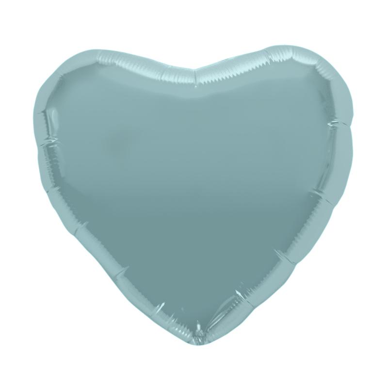 Palloncino cuore celeste pastello 46cm 1 pezzo