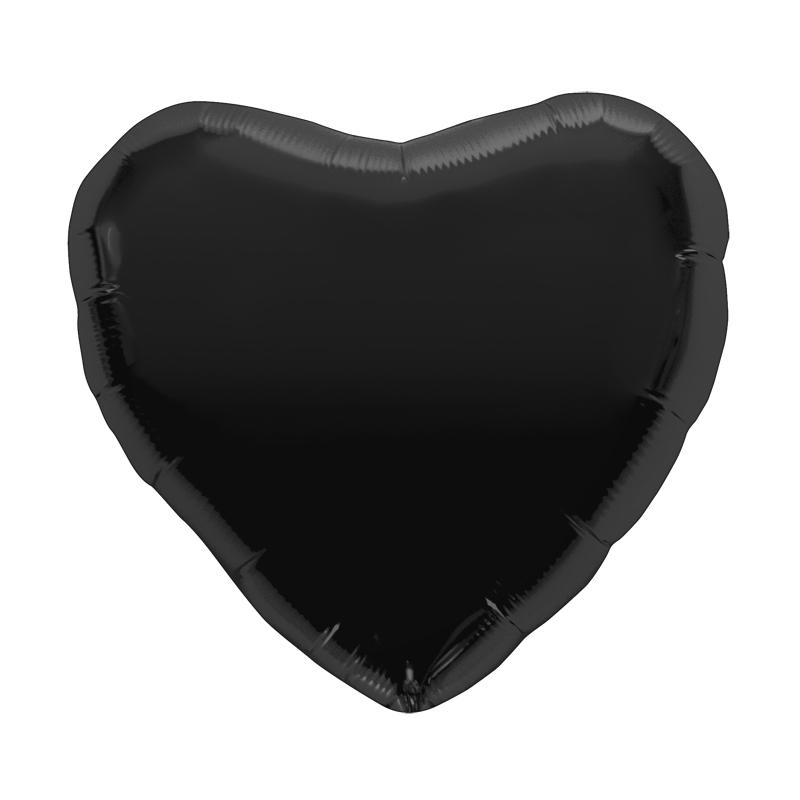 Palloncino cuore nero L 46 cm  1 pezzo