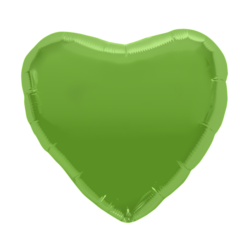 Palloncino cuore verde lime 46cm 1 pezzo