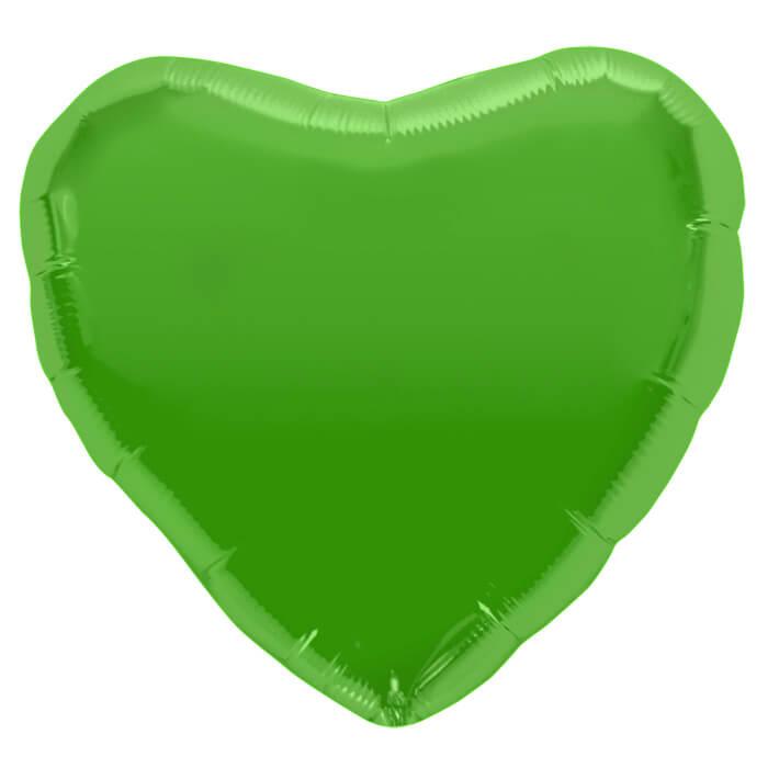 Palloncino cuore verde lime 46 cm 1 pezzo