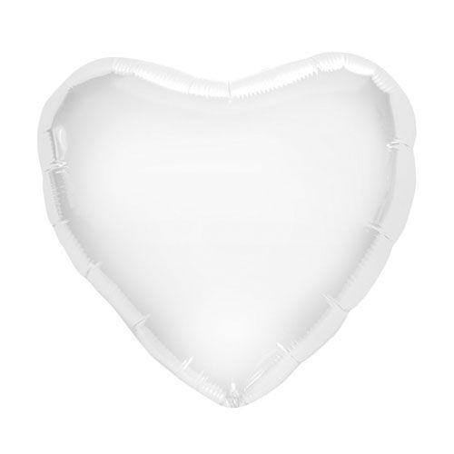Palloncino cuore bianco L 46 cm 1 pezzo