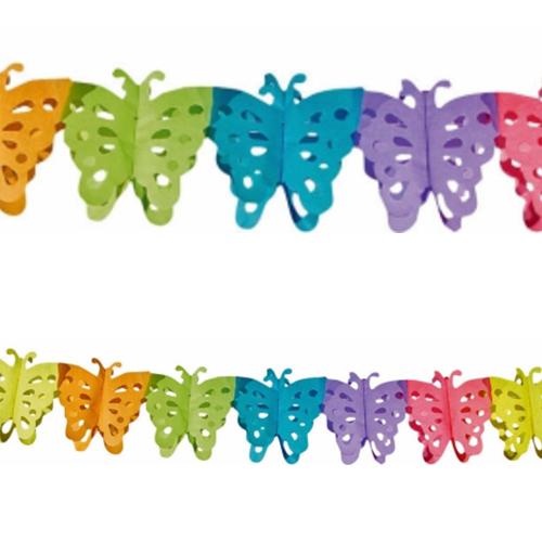 Ghirlanda Farfalle multicolore 1 pezzo