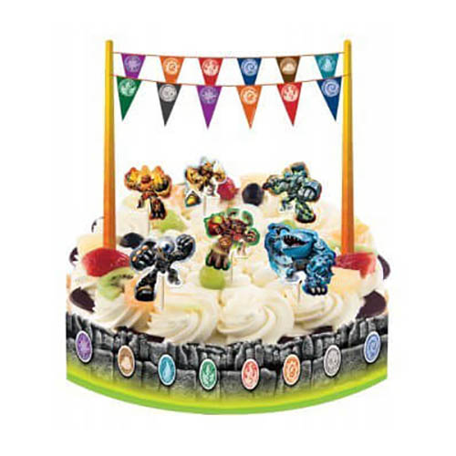 Kit Skylanders Giants decorazione torta 13 pezzi