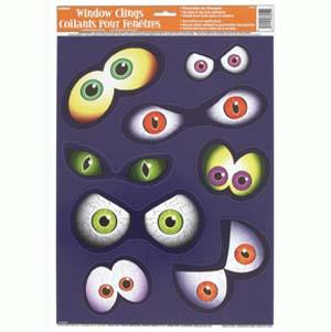 Vetrofanie rimovibili Halloween 12 pezzi