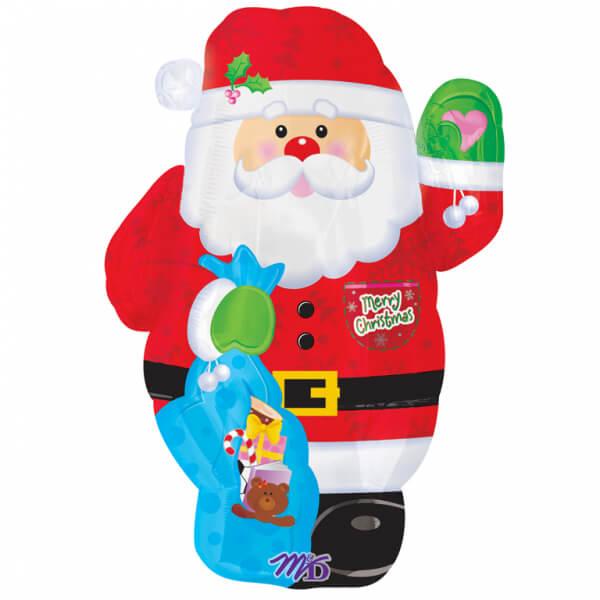 Palloncino Babbo Natale mini mascotte 35 x 45 cm 1 pezzo
