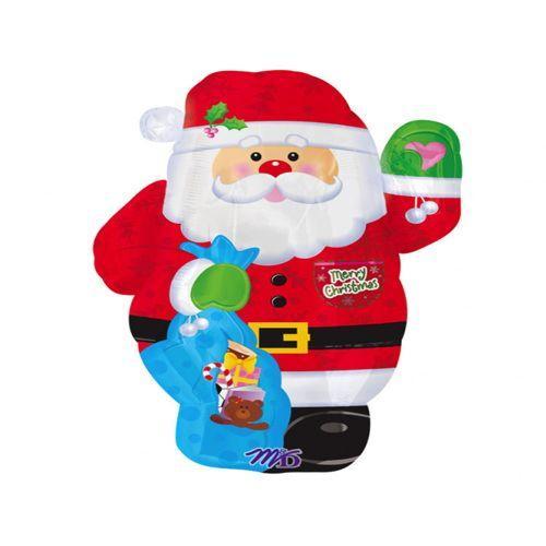 Palloncino Babbo Natale mascotte 45 cm 1 pezzo