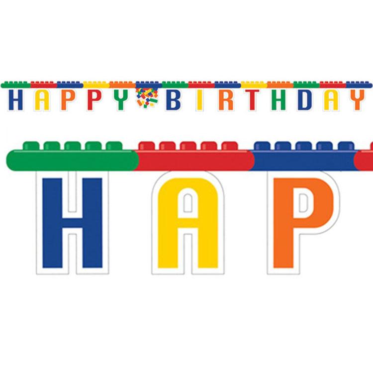 Festone Costruzioni per compleanno scritta happy BDay 1 pezzo