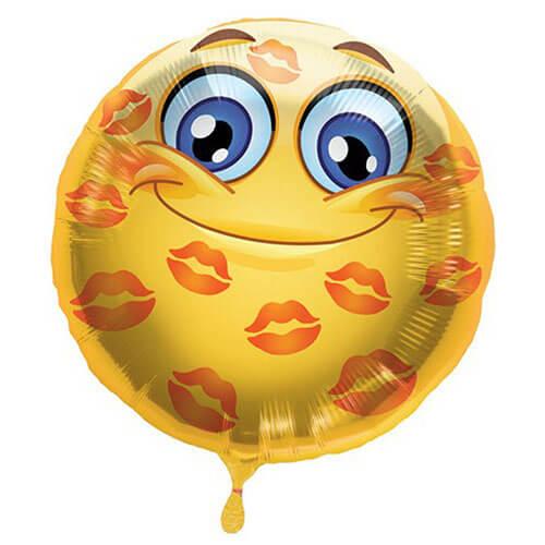 Palloncino emoji kisses 45 cm 1 pezzo
