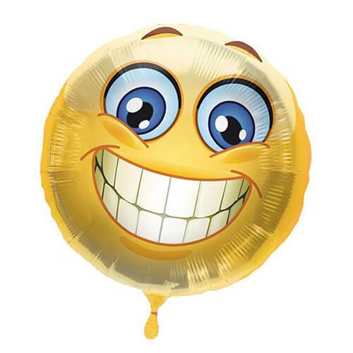 Palloncino Emoji smile 45 cm 1 pezzo