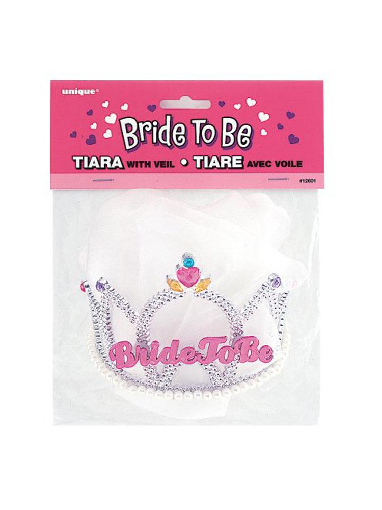Diadema Bride to Be con velo1 pezzo