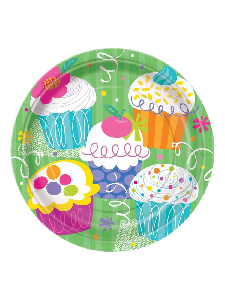Piatti Cupcake grandi 8 pezzi